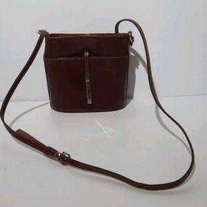 Vera Pelle Genuine Leather Crossbody Bag Purse